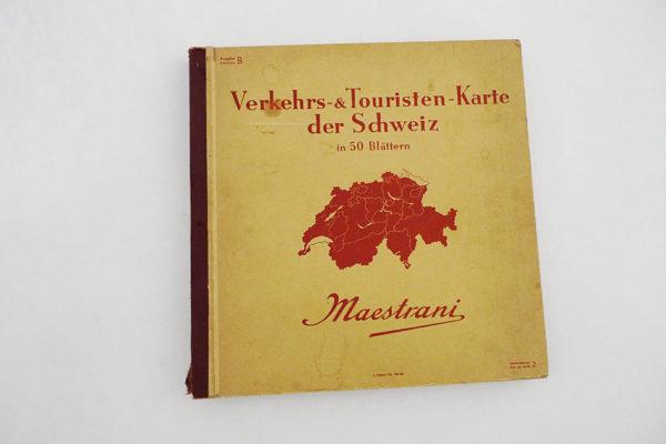 Verkehrs- & Touristen-Karte der Schweiz in 50 Blättern