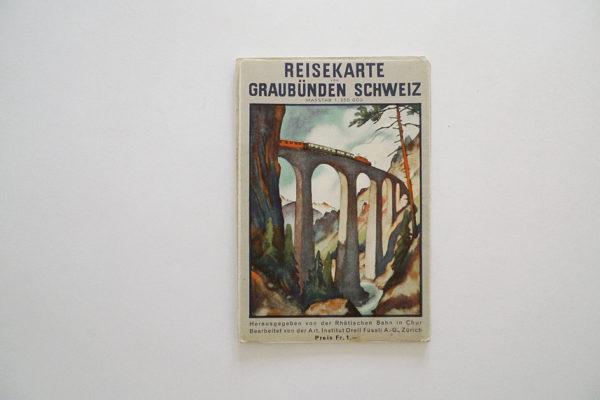 Reisekarte von Graubünden Schweiz