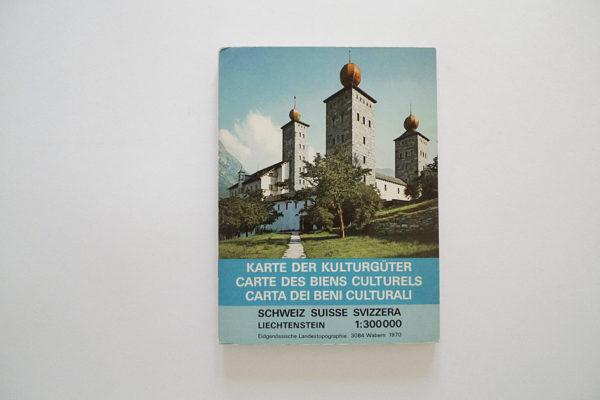 Karte der Kulturgüter Schweiz mit Liechtenstein