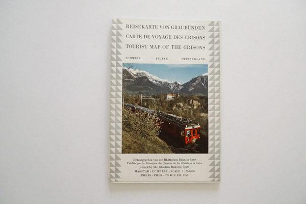 Reisekarte von Graubünden, Schweiz