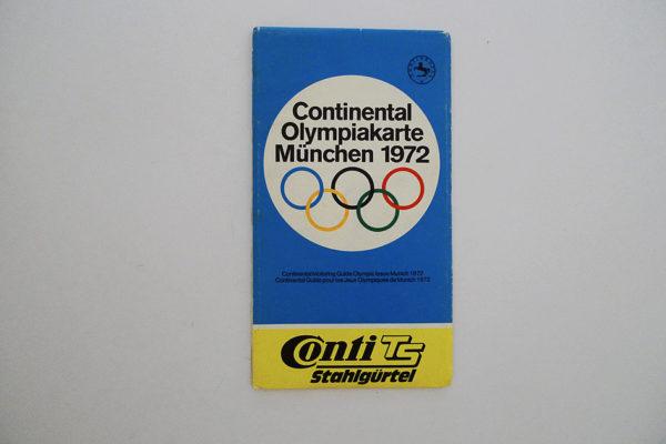 Olympiakarte München 1972
