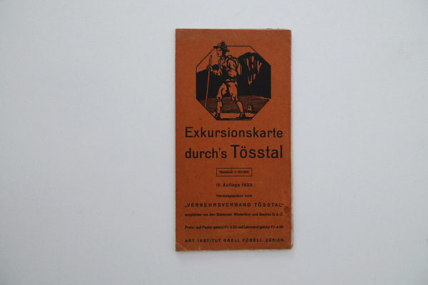 Exkursionskarte durchs Tösstal