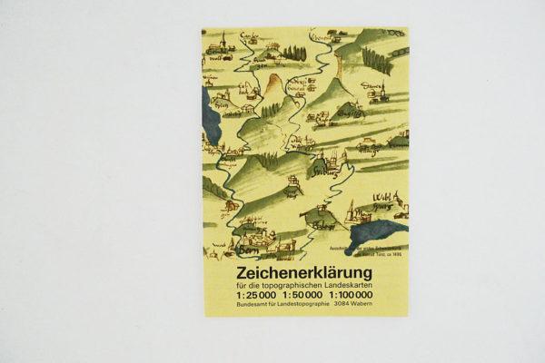 Zeichenerklärung für die topographischen Landeskarten