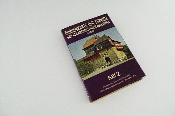 Burgenkarte der Schweiz und des angrenzenden Auslandes