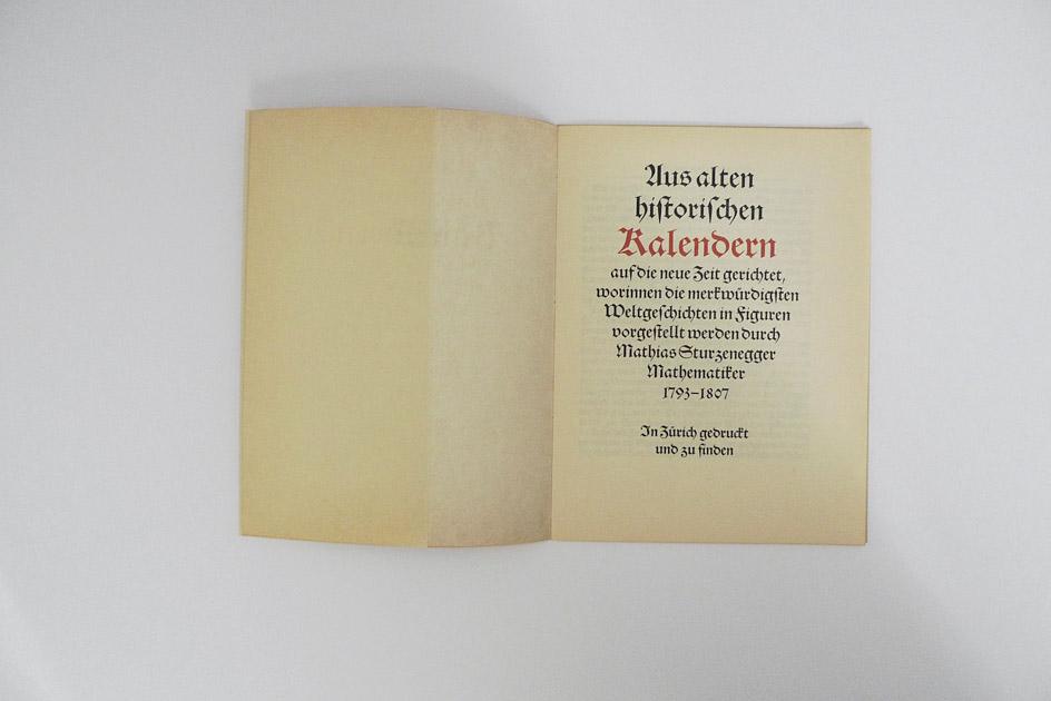 Aus alten historischen Kalendern –  Mathias Sturzenegger