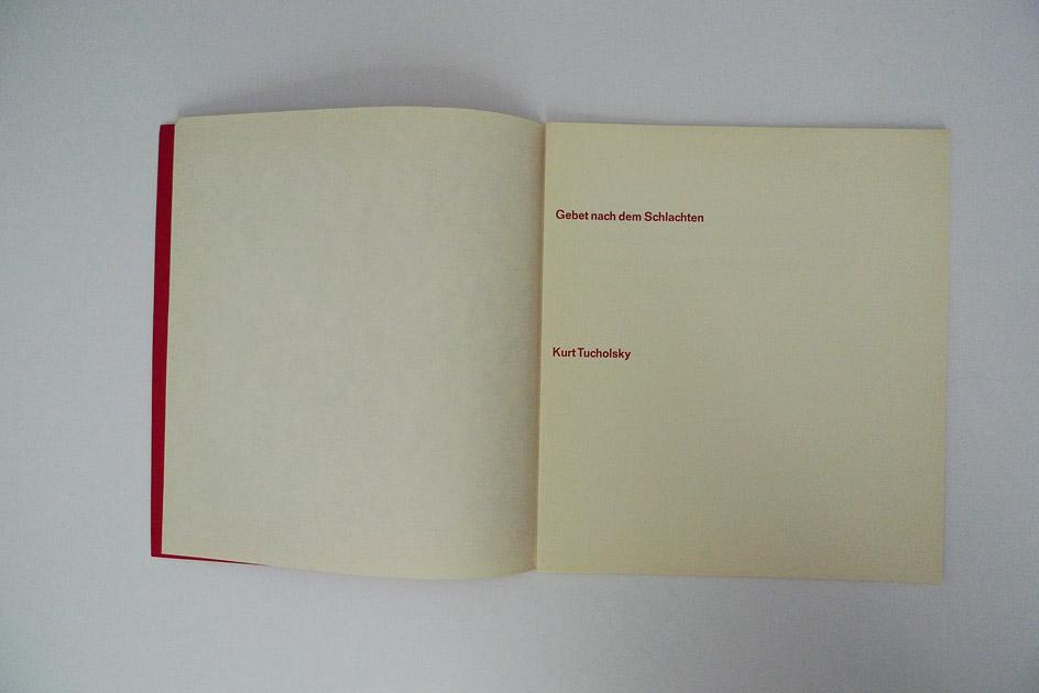 Kurt Tucholsky – Gebet nach den Schlachten