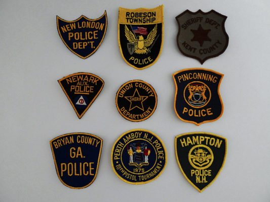 9 Police Patches USA