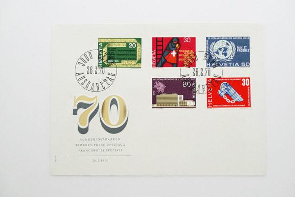 Ersttagsbrief (FDC) 26.2.1970