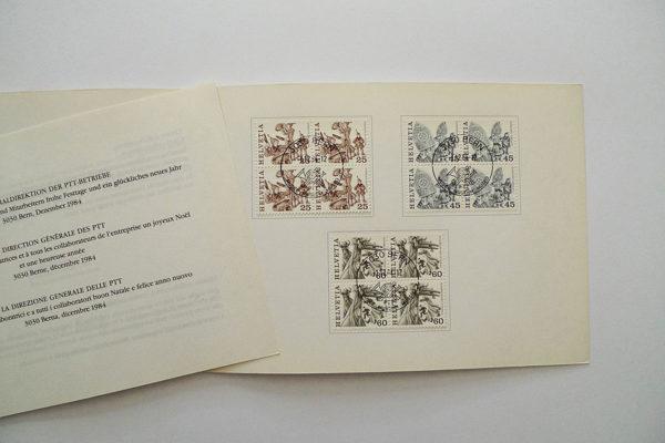 PTT Weihnachtskarte 1984