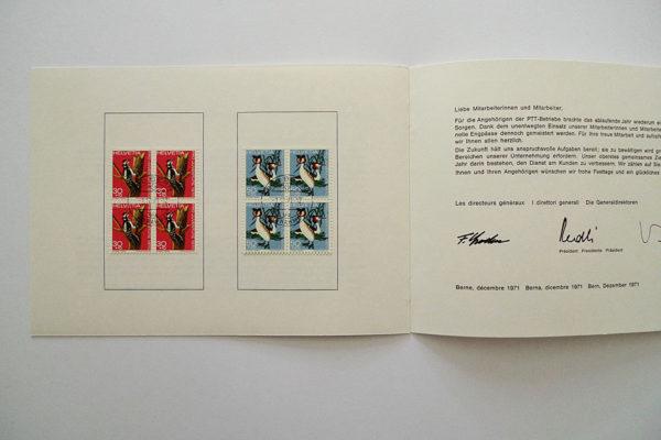 PTT Weihnachtskarte 1971