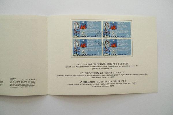 PTT Weihnachtskarte 1972