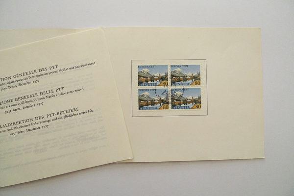 PTT Weihnachtskarte 1977