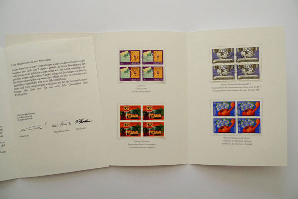 PTT Weihnachtskarte 1980