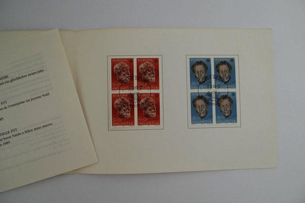 PTT Weihnachtskarte 1985