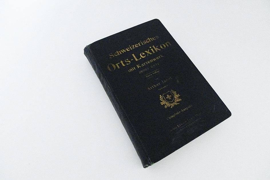 Schweizerisches Orts-Lexikon mit Kartenwerk