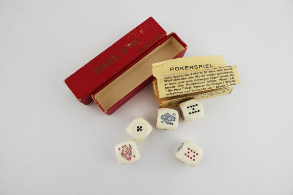 Pokerspiel; Jeu de Poker d'As; Game of Poker Dice