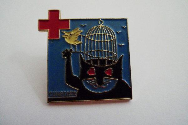 Pin Tomi Ungerer für Rotes Kreuz