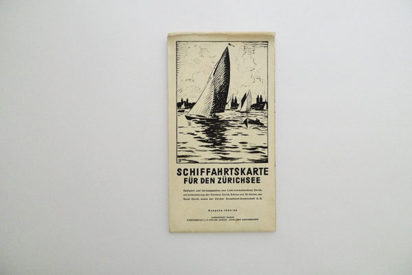 Schiffahrtskarte für den Zürichsee