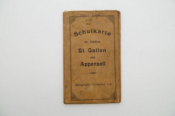 Schulkarte der Kantone St. Gallen und Appenzell