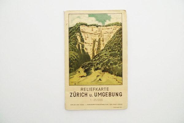 Reliefkarte Zürich und Umgebung