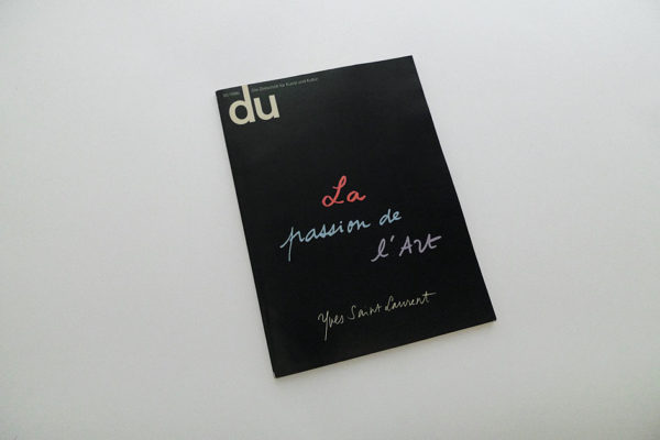 du; La passion de l'art, Yves Saint Laurent