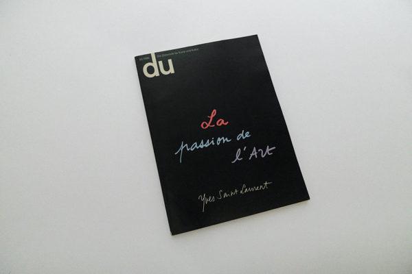 du; La passion de l'art, Yves Saint Laurent