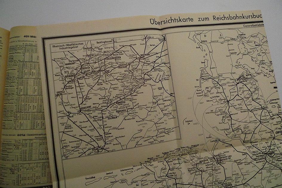 Amtliches Kursbuch. Westliches Deutschland