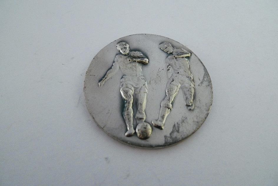Medaille Plakette Fussball