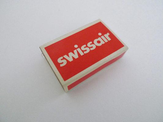 Zündholzschachtel Swissair