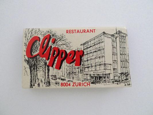 Zündholzbriefchen Restaurant Clipper