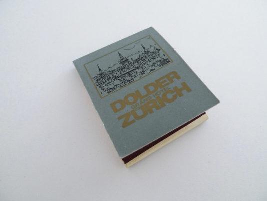 Zündholzbriefchen Dolder Zürich