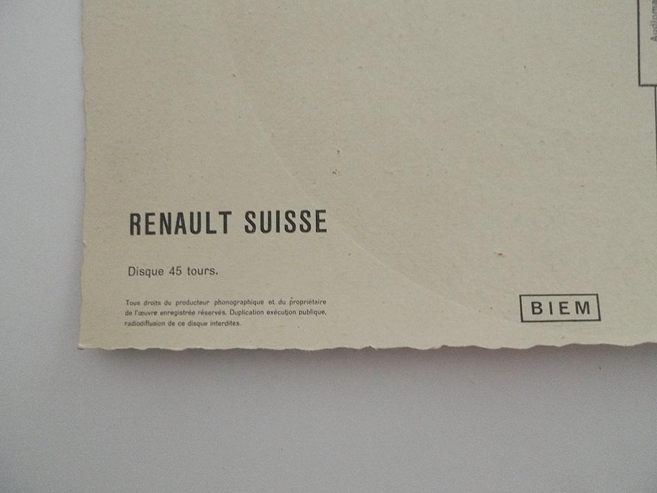 La Dauphine; Renault Suisse; Disque 45 tours.