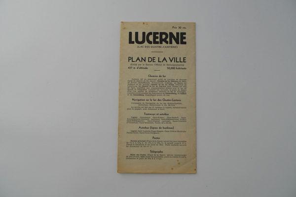 Lucerne - Plan de la Ville