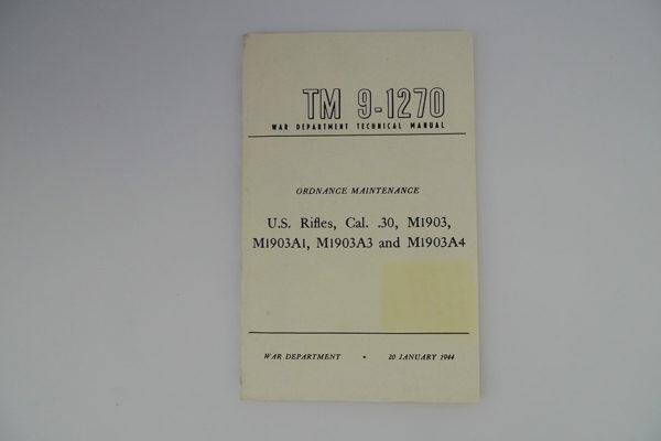 War Department Technical Manual TM 9-1270