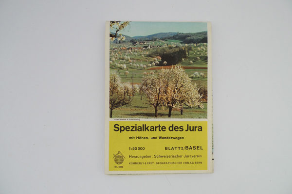 Spezialkarte des Jura mit Höhen- und Wanderwegen