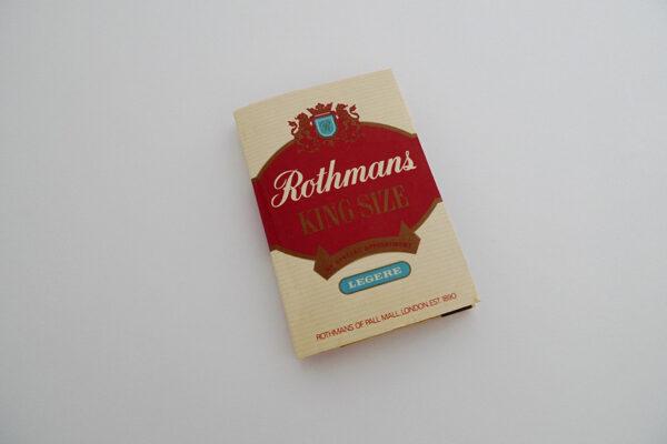 Zündholzbriefchen Rothmans