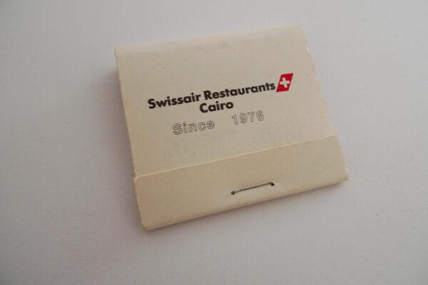 Zündholzbriefchen Swissair Restaurants Cairo