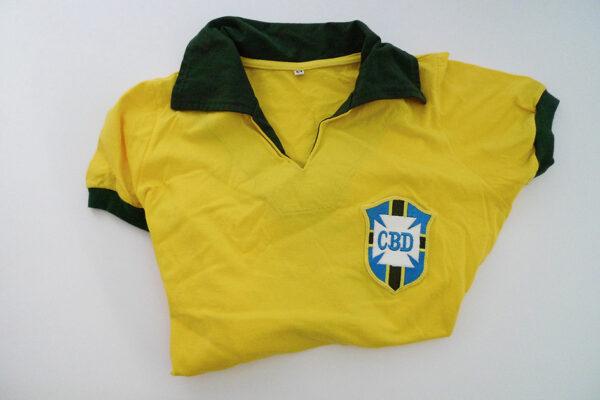 Brasilien Retro 1958 - Fussball Trikot